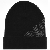 Product Image for Emporio Armani Logo Beanie Hat Black